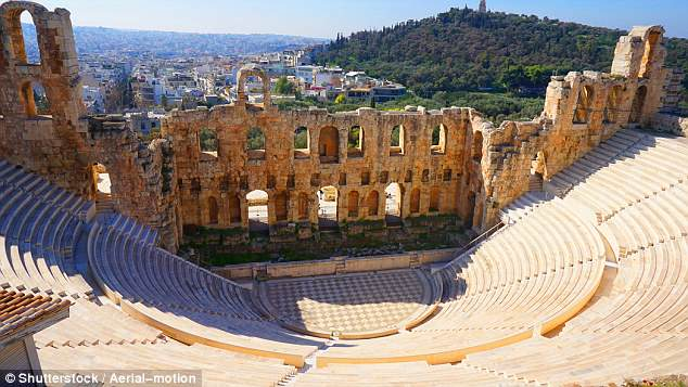 The cradle of civilisation: Ancient theater of Herodus Atticus near Acropolis hill, Athens