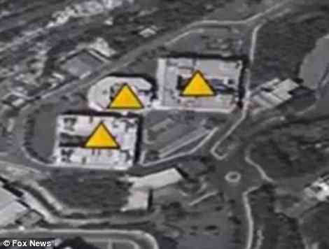 Satellite images show the Barzah Research Center, the main target, before and after the missile attack which took place at 4am local time on Saturday, 9pm EST on Friday. 76 missiles pummeled this site alone