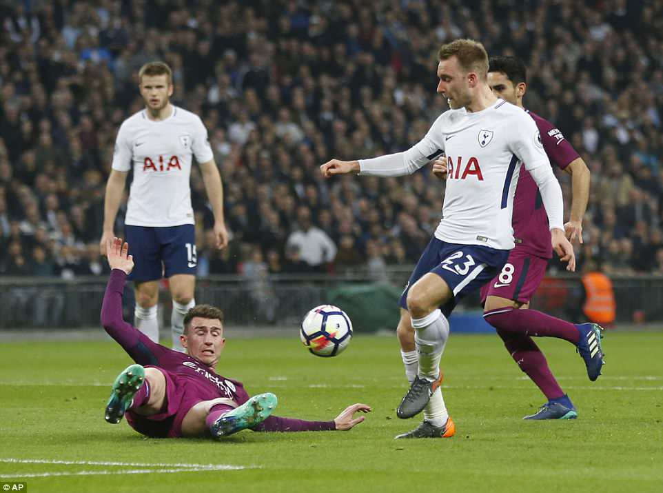 Spurs got themselves back in the game just before the interval when Christian Eriksen scored from inside the 18-yard box
