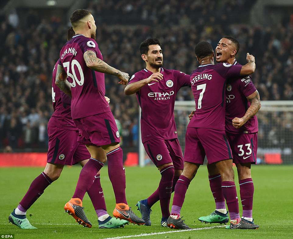 Manchester City ended their three-match losing streak by beating Tottenham Hotspur 3-1 at Wembley on Saturday evening