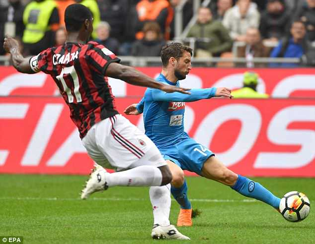 Dries Mertens come close to opening the scoring but his denied by the resilient Donnarumma