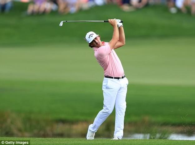 Kelly Kraft  played his second shot on the first hole during the first round of the 2018 Honda Classic on The Champions Course at PGA National on February 22, 2018 in Palm Beach Gardens, Florida