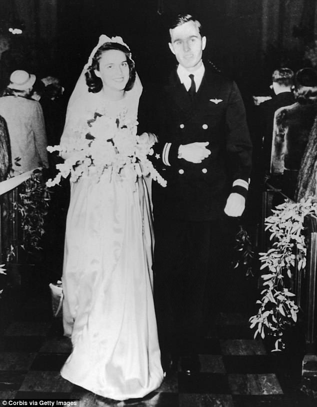 Barbara andGeorge H.W. Bush married in January 1945 at the First Prsbyterian Church in Rye, New York