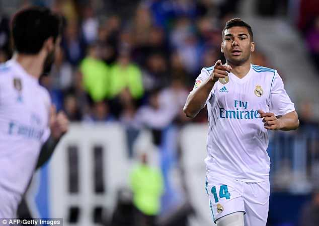Casemiro finished off a lovely team move to double Madrid's lead shortly after the hour mark