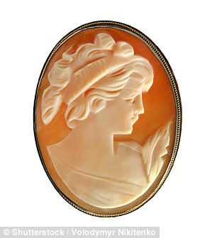 One of Kate's good luck charms is a 19th century alabaster cameo pendant from the Queen (stock image)