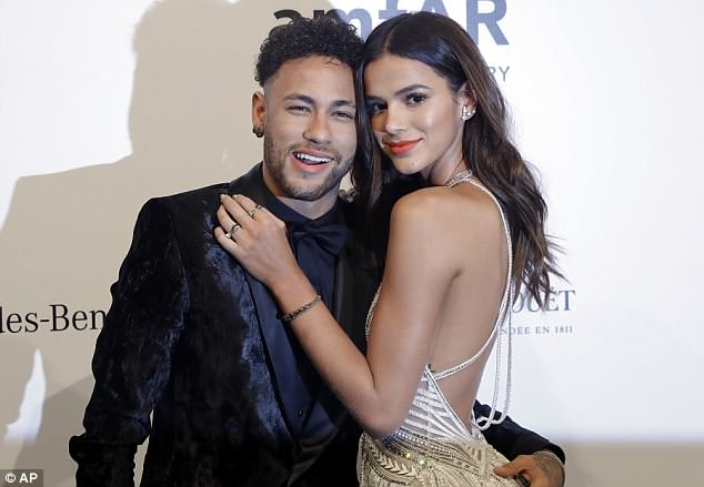 Neymar, pictured with girlfriend Bruna Marquesine, is confident he will be fit for the World Cup