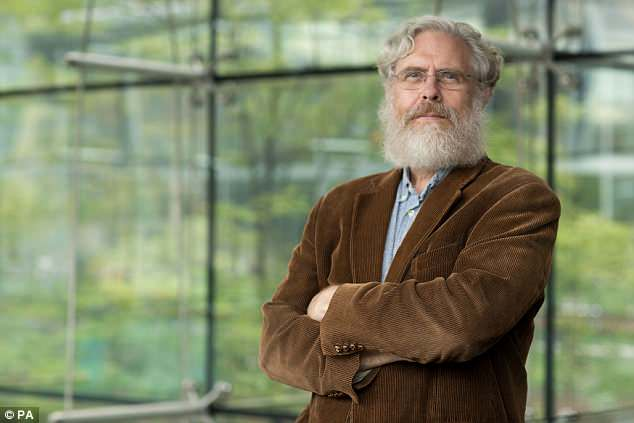 Using this technique, scientists -led by Dr George Church (pictured) from Harvard University could cut and paste preserved mammoth DNA into Asian elephants to create and elephant-mammoth hybrid