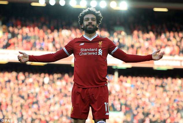 Liverpool's Egyptian star Mohamed Salah, with 30 league goals this season, was also included