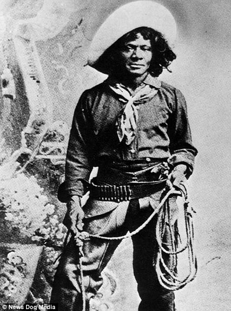 Nat Love, an African-American cowboy and former slave, pictured circa 1900. Nat Love was the most famous black hero of the Old West largely down to his self-reported exploits in his published autobiography.