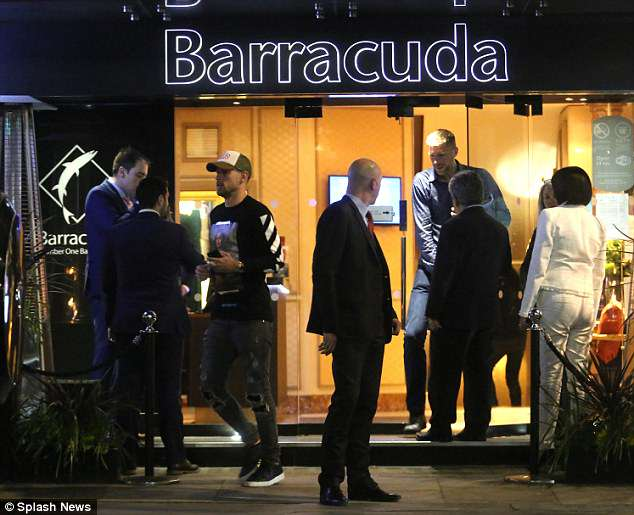 Aaron Ramsey was one of the Arsenal stars spotted at the Barracuda Casino on Wednesday
