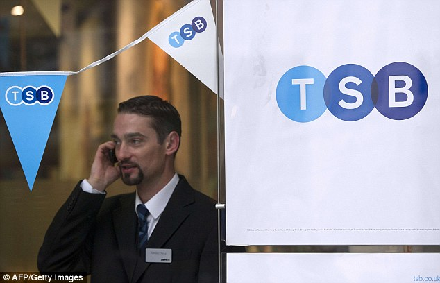 TSB: The bank has seen a deluge of complaints with many customers still unable to access their accounts this morning