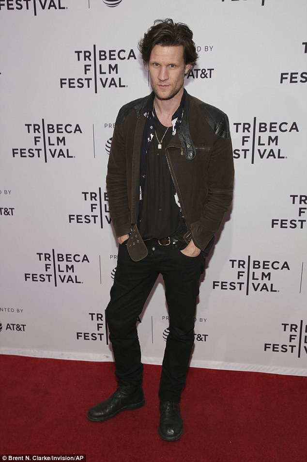 Busy:The former Doctor Who star made an appearance at the Tribeca Film Festival in New York on Sunday, where he attended the world premiere of his latest drama Mapplethorpe