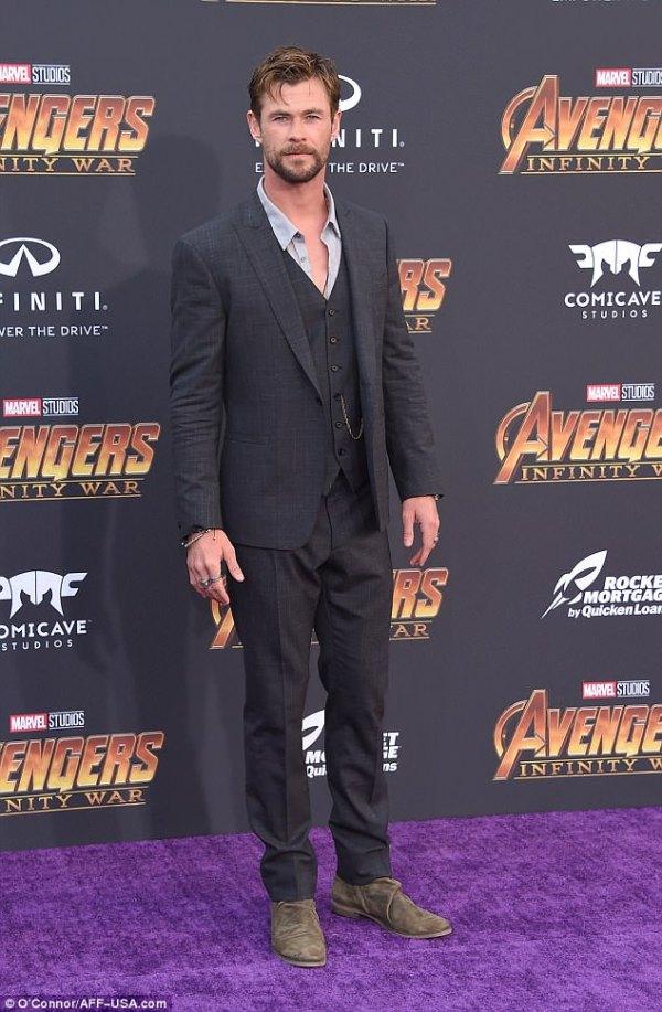 Chris Hemsworth Thor Avengers Infinity War premiere ...