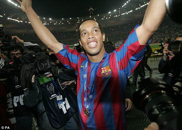 Ronaldinho made a name for himself at Barcelona and won the Champions League in 2006