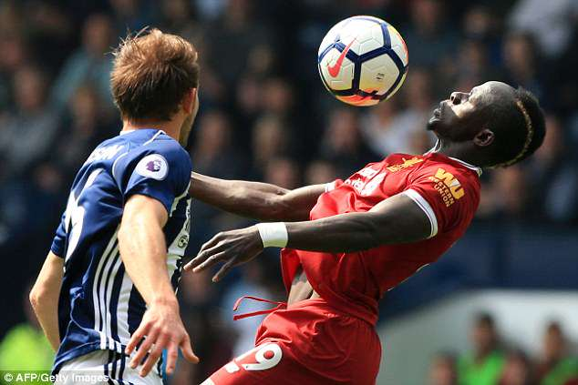 The former Southampton star takes a touch during Liverpool's 2-2 draw with West Brom