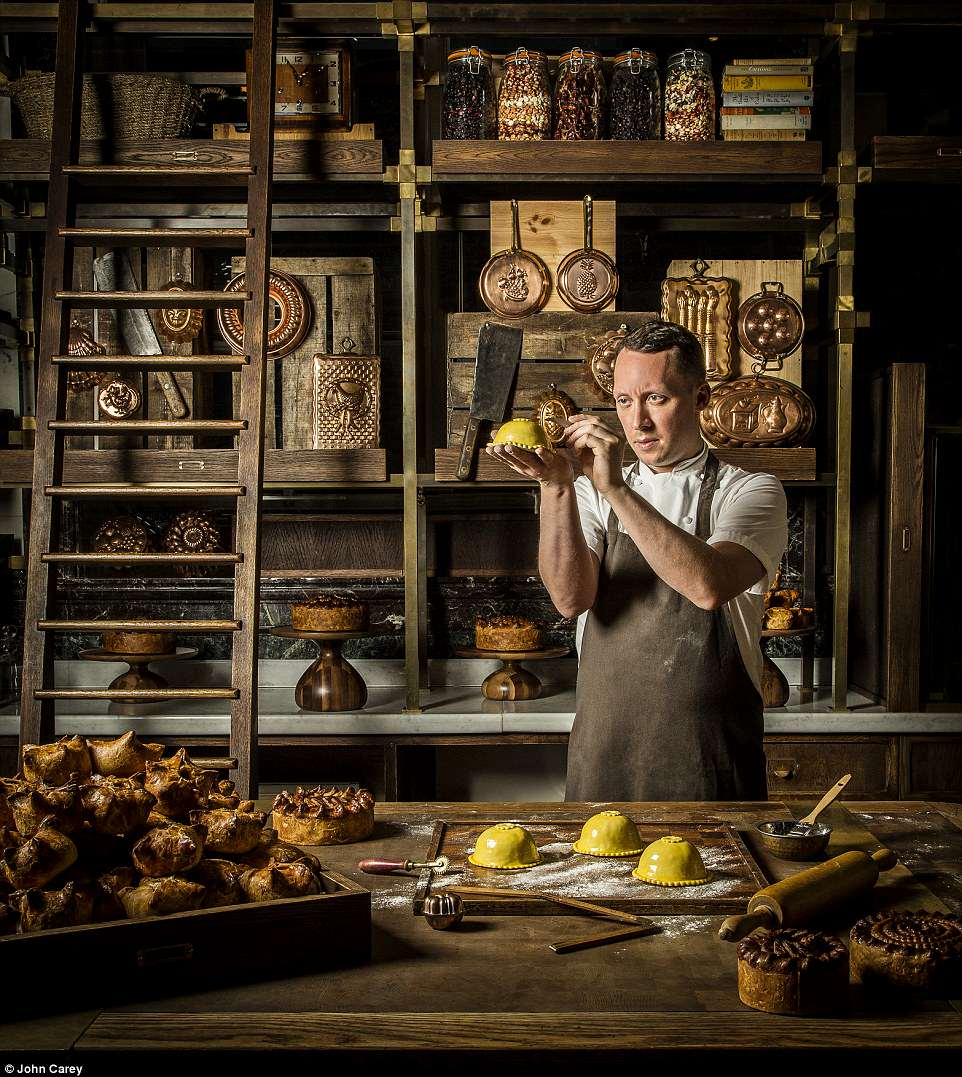 British photographer John Carey won theThe Philip Harben Award for Food in Action prize for his picture, Calum in his pie room, which showsCalum Franklin, an executive head chef in his wonderful Pie Room at Holborn Dining Rooms in the Rosewood Hotel, London