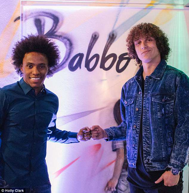 Brazil and Chelsea team-mates Willian (left) and David Luiz are partners of the restaurant