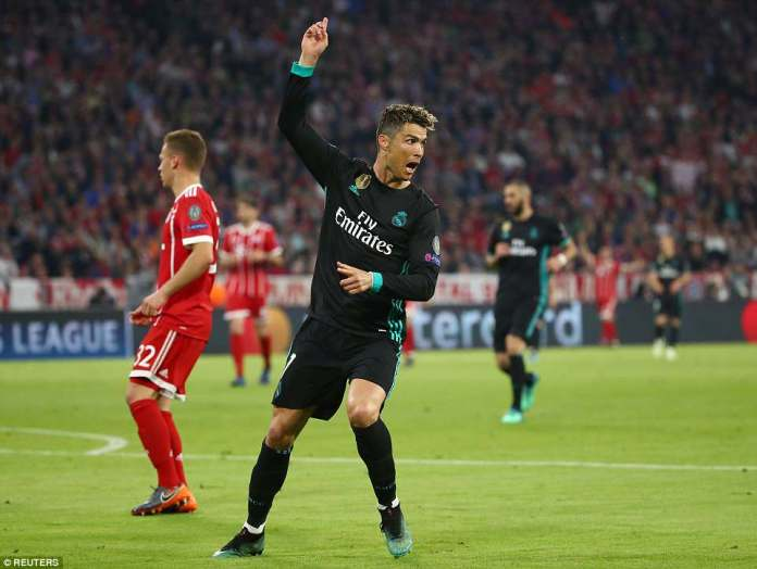 Cristiano Ronaldo struggled to get into the game - he thought he scored in the second half, but it was ruled out for handball