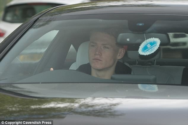 Academy graduate Scott McTominay, who has impressed for United, was at Carrington