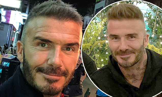 David Beckham Debuts New Close Cropped Hairstyle On Trip