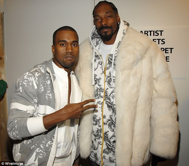 As they were: Kanye with Snoop back in 2006; the two went onto work together in 2011