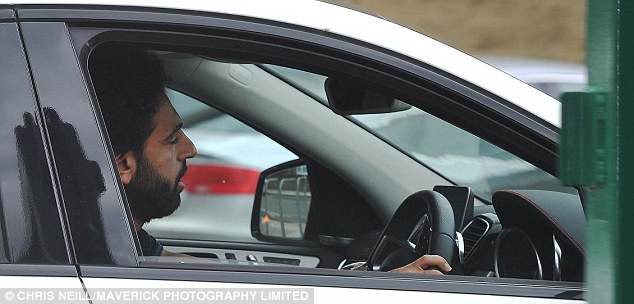 Liverpool star Mohamed Salah arrives at Melwood ahead of training on Monday afternoon