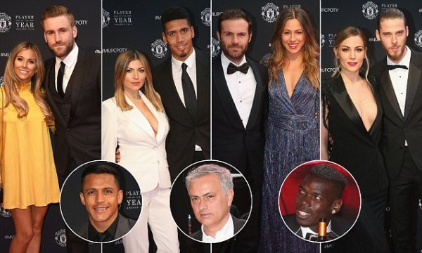 Man United players and WAGs hit red carpet for end-of ...