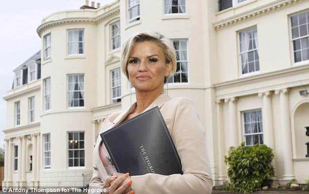 Open and honest:The 37-year-old former Atomic Kitten star gave a candid talk at The Hygrove, a new treatment centre, on Thursday, helping unveil the new and exclusive sanctuary in Gloucester during which she candidly discussed her addictions