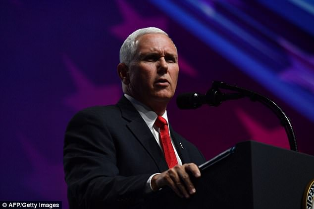 A person with knowledge of the internal workings of the vice president's office told DailyMail.com that Peña's complaints were met with anger from Pence (pictured on Friday)