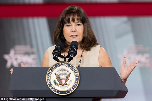 Jackson had shared with White House Chief of Staff John Kelly details of an unspecified medical incident involving second lady Karen Pence (pictured). Peña accused Jackson of committing an egregious violation of Mrs. Pence's legally protected patient privacy rights