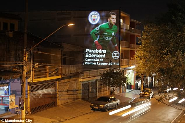 Ederson's first football pitch in Osasco, Sao Paulo, was across the road from this building
