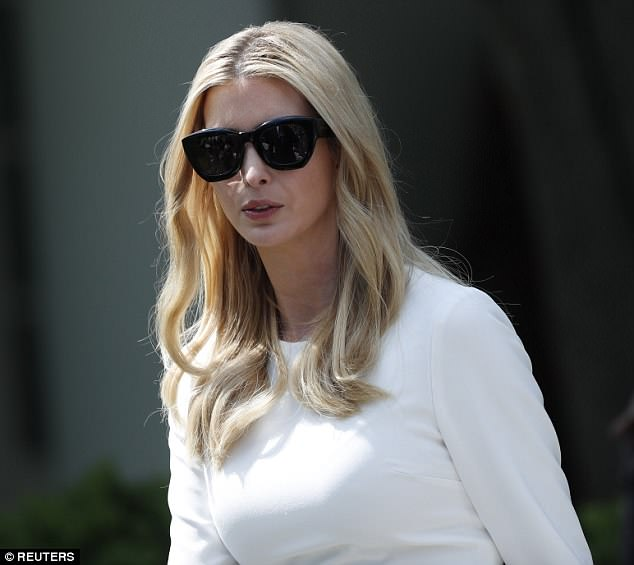 Ivanka donned oversize black sunglasses throughout the event