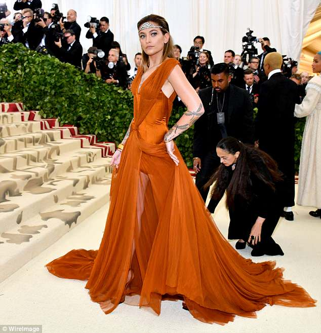 Blend: Paris Jackson mixed royalty with the down to earth in her Met Gala ensemble