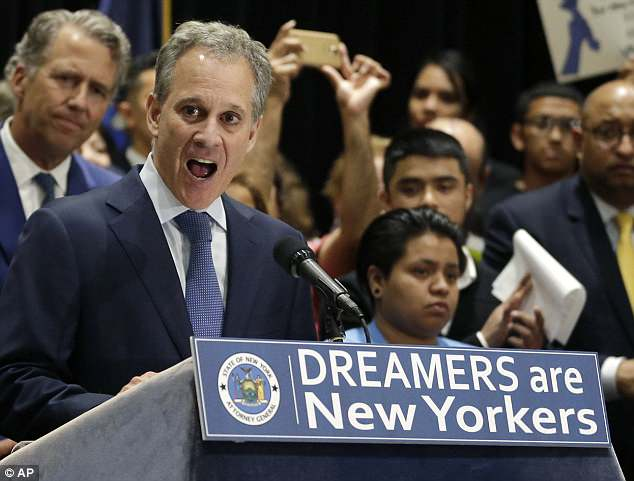 Schneiderman cast himself as an arch-nemesis to Trump and a key figure of the 'resistance'