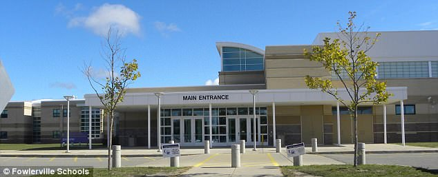 The shocking incident happened at themulti-school event in Fowlerville High School