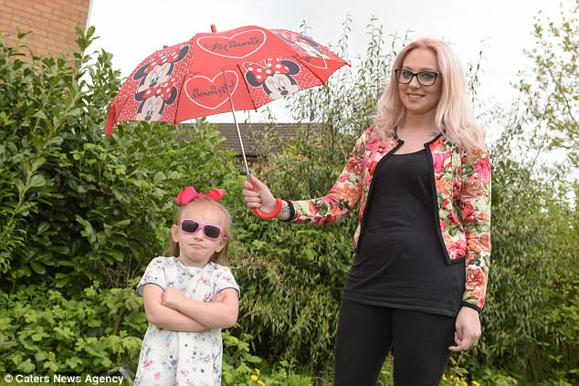 Her parents, Sophie (pictured) and Liam, live in fear of Carys having another life-threatening reaction, as she has been rushed to hospital several times already