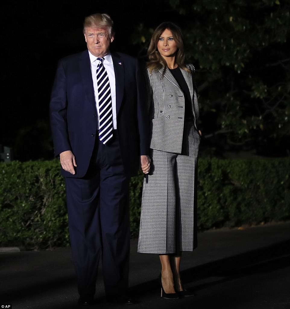 The president and the first lady left the White House at 2:00 a.m. to make the short journey to Andrews