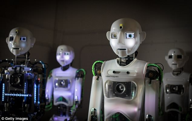 The robots are built to order and RoboThespian stands at 5 foot 9 inches tall (1.75 metres)