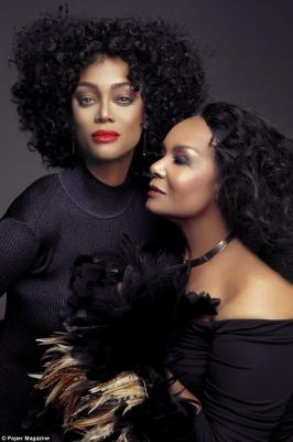 Lookalikes: They also posed together as Tracee Ellis Ross and Diana Ross