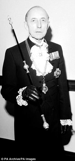 Well-connected: Sir Frank Twiss, the former Black Rod