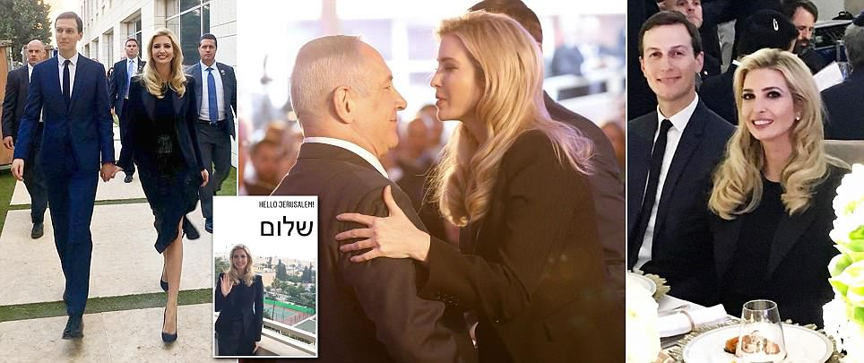 Ivanka and Jared embrace Israeli Prime Minister Netanyahu after touching down in Jerusalem