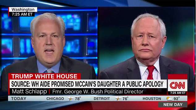 American Conservative Union chairman Matt Schlapp (left) defended Sadler on Monday, painting her as a quasi-'victim' of malicious leaks
