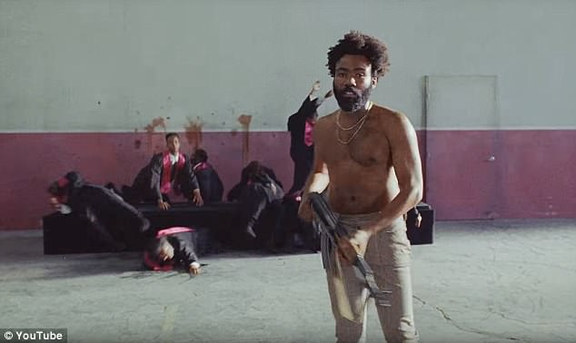 The scene mirrored Childish Gambino's slaughter of gospel singers in his This is America