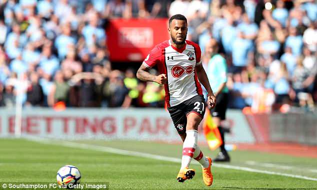 Southampton left back Ryan Bertrand likely to miss out in a position where England have depth