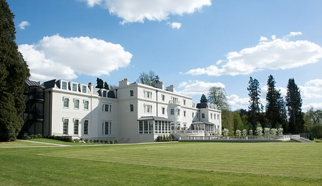 Prince Harry will stay at the Dorchester Collection's Coworth Park (pictured) in Sunningdale, Berkshire, on Friday, which is owned by the Sultan of Brunei