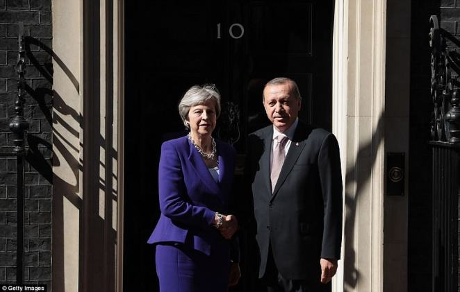 Theresa May is meeting with Turkish President Erdogan today where the pair will discuss their partnership on security matters