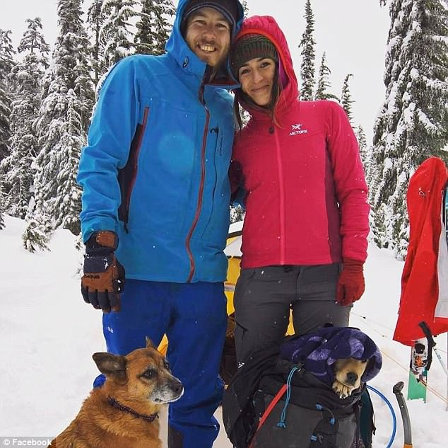 Jenkins, pictured with his girlfriend Shawna Lamoree, who was climbing with him when he fell