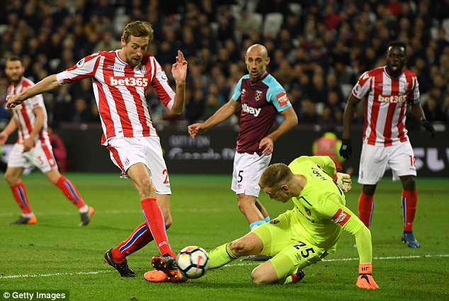 The Manchester City goalkeeper has not enjoyed a good season on loan at West Ham United