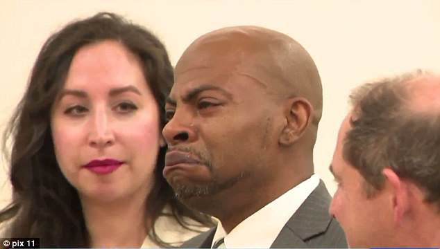 Bunn broke down in tears in court on Tuesday as a New York judge told him his second-degree murder conviction had been tossed out