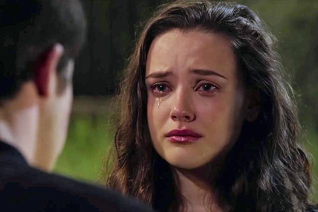 Google searchers for 'how to commit suicide' surged after the finale of 13 Reasons Why's first season  depicted the suicide of its main character, Hannah Baker (pictured)
